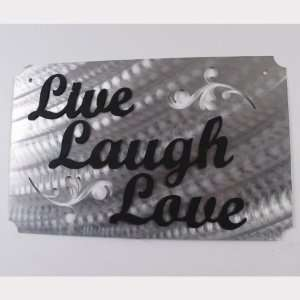 Work Live Laugh Love Wrought Iron & Aluminum Home Decor Word Sign