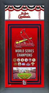 St. Louis Cardinals Black Wood Framed 2011 World Series Championship