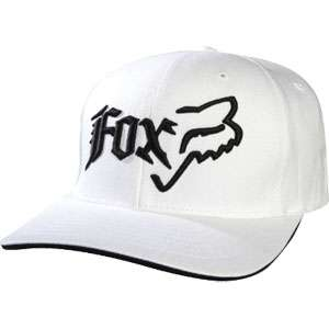 Fox Racing Side Head Flexfit Hat White Small/Medium