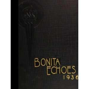 : Bonita Union High School (closed 1960) 1936 Yearbook Staff: Books