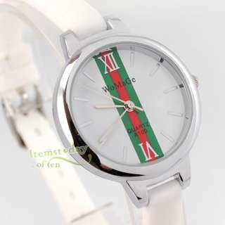 Elegant Lady Fashion Lady Quartz Unique Watch White Rubber Band Polish