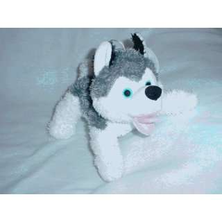 Paw Paw Pet Products M0027 Small Grey Wolf Plush Dog Toy
