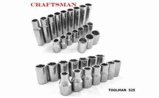 CRAFTSMAN 33pc 1/2 METRIC Shallow Deep Sockets Set Hand Tools Lot NEW