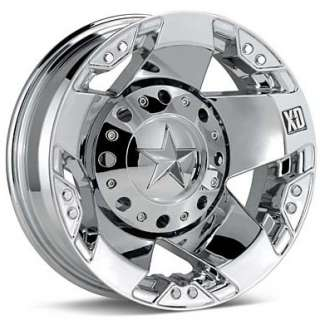 17 Inch Wheels Rims Ford F350 Truck Dually Chrome 8x170 8 lug XD