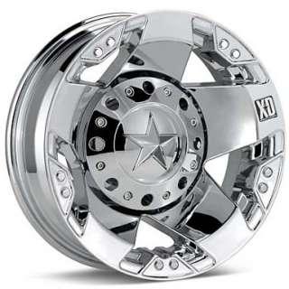 17 Inch Wheels Rims Ford F350 Truck Dually Chrome 8x170 8 lug XD