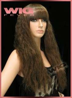 24 Long Curly Brown Hair Wigs 2279