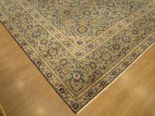 Beautiful Handmade Antique 1930s Persian Royal Kashan Wool Rug 2504