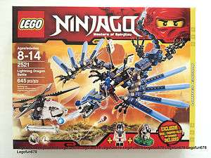 Lego Ninjago Limited 2521 Lightning Dragon Battle New In Factory
