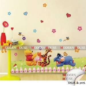 Winnie the Pooh Playing Hand Clapping Game removable Vinyl Mural Art