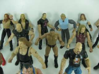Lot 18 WWE WWF Wrestling Action Figures Jakks Titan Tron Jeff Hardy
