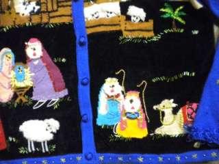 Berek nativity Christmas Mary, Joseph, Wise Men, Bethlehem SWEATER
