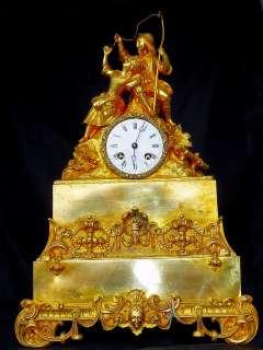 LARGE UNIQUE FRENCH GILT BRONZE FIGURATIVE Clock 1880 |