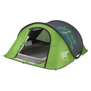 Quechua Tent Camping Pop Up Tente 2 SECONDS AIR III bamboo, 3 Man