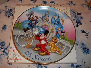 Walt Disney World 25th Anniversary collector plate/1996/Mickey Mouse