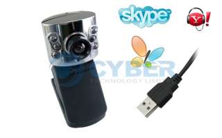 USB 300K 6 LED WEB CAMERA WEBCAM MIC for PC SKYPE MSN
