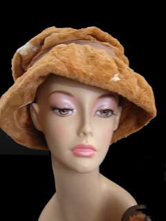 Gorgeous Vintage 60s Faux Pony Hair Fur Hat & Purse