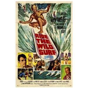 Ride The Wild Surf (1964) 27 x 40 Movie Poster Style A: Home & Kitchen