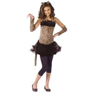 Lets Party By FunWorld Wild Cat Child Costume / Black/Brown   Size