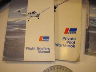 LOT PIPER PILOT FLIGHT MANUAL WORKBOOK COMPUTER PLOTTER