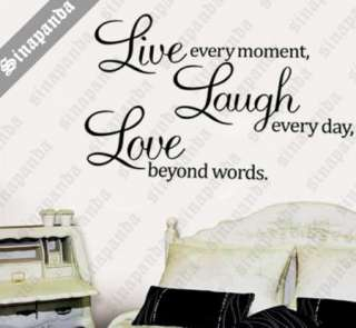 LIVE LAUGH LOVE WALL STICKER ART DECAL DECOR QUOTE SAYING DESIGN WORDS