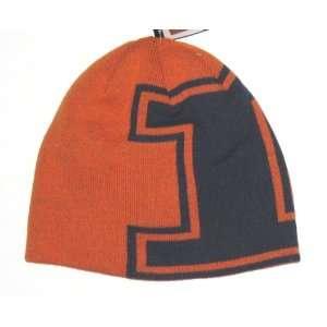 of Illinois NCAA Adidas Large Logo Knit Beanie Hat