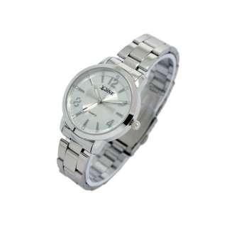 Sliver Official Mens Ladies Quartz Wrist Watch Concise
