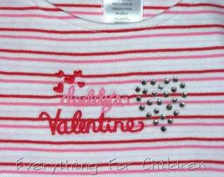 Girls GYMBOREE Valentines Day shirt 6 NWT striped tee