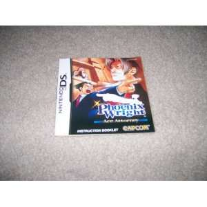 Phoenix Wright Instruction booklet for Ninendo DS