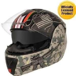 Afghanistan War Graphics Advance Dual Visor Modular Helmet Sz S