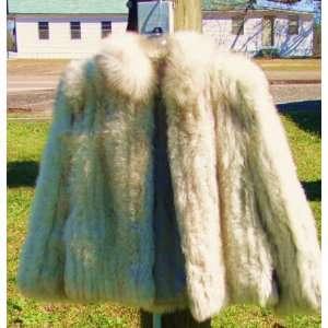 SAGA BRAND Silver Blue Fox Real Animal Fur Coat Jacket
