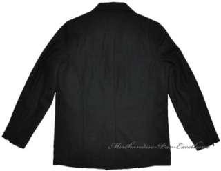 Mens BLACK RIVET Wool Blend Car WINTER Coat Jacket BLACK Size Large