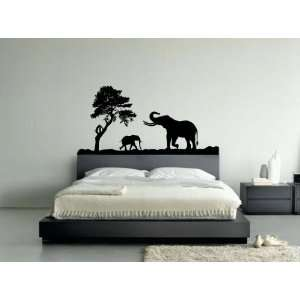 African Elephant in Jungle Vinyl Wall Art Decal Sticker