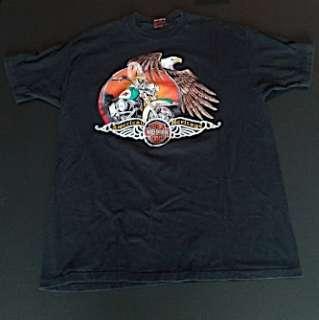 Authentic Harley Davidson American Heritage T Shirt 1991 Wausau WI XXL
