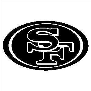 San Francisco 49ers 6 x 11 Auto Car Truck Window Sticker Decals