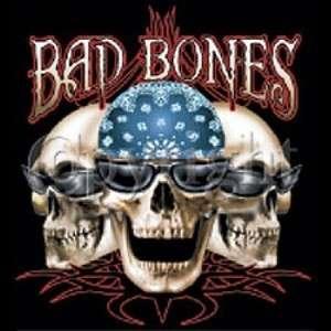 BAD BONES SKULLS HARLEY BIKER GANG HOODIE L TO 4X