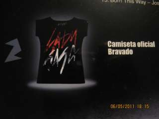 LADY GAGA [BOX ]BORN THIS WAY shirt,cd,tatoo NEW SEALED