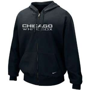 Nike Chicago White Sox Black Tackle Twill Full Zip Hoody