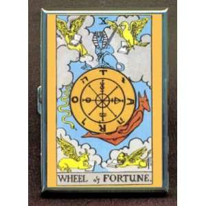 WHEEL OF FORTUNE TAROT CARD ID Holder, Cigarette Case or Wallet: MADE
