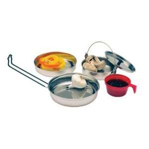 Texsport Stainless Steel Mess Kit 5 Piece Camping