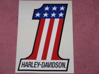 DECAL STICKER VINYL RED WHITE BLUE 5.25 X 3.75 MOTORCYCLE
