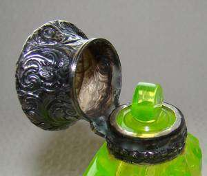 RARE ANTIQUE SOLID STERLING SILVER PERFUME/SCENT BOTTLE vial~VICTORIAN