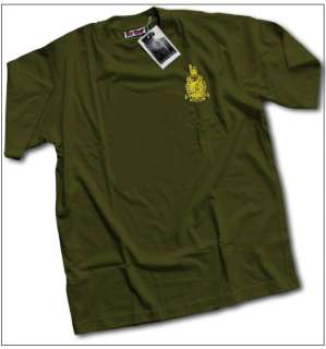 Royal Marines Commando Khaki T Shirt Mens ALL SIZES