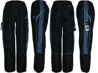 Adidas Mens 3 Stripe Tracksuit Pants Jog Running Bottoms   Black Sm