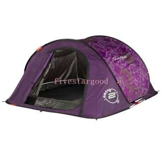 Quechua Tent Camping Pop Up 2 Seconds EASY III jewels