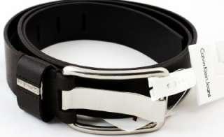 Calvin Klein Belt 73110 Genuine Leather Mens Brown New