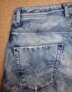 New 100% Mens Diesel Krooley 8N1 Denim Jeans 32x32 *Blue Eyecons 2010