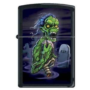 Custom Lighter   RIP Scary Green Zombie RARE