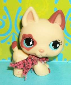 Littlest Pet Shop~#744 CREAM GERMAN SHEPHERD PUPPY DOG w/ Scarf~E113