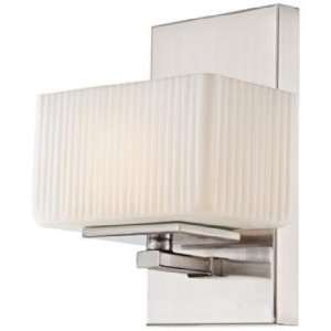 Quoizel Wellesley Brushed Nickel 8 High Bath Sconce