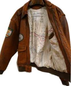 ARMY AIR FORCES LINED BOMBER JACKET COAT LEATHER 78th division